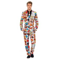 Comic Strip mens suit & tie
